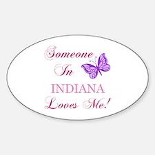 Indiana State (Butterfly) Sticker (Oval)