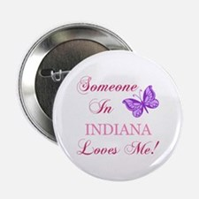 "Indiana State (Butterfly) 2.25"" Button"