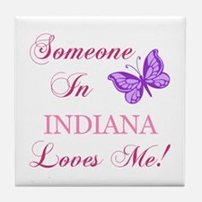 Indiana State (Butterfly) Tile Coaster