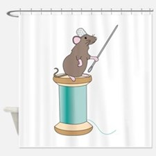 Mouse Sewing Shower Curtain