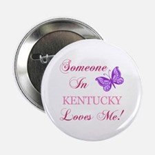 """Kentucky State (Butterfly) 2.25"""" Button"""