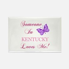 Kentucky State (Butterfly) Rectangle Magnet