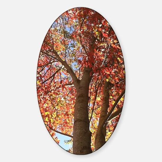 Ruby Leaves Sticker (Oval)