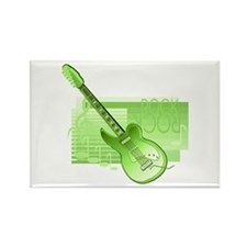 electric guitar rock back green Magnets