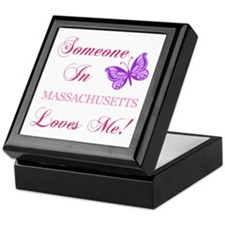 Massachusetts State (Butterfly) Keepsake Box