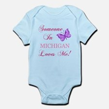 Michigan State (Butterfly) Infant Bodysuit