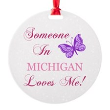 Michigan State (Butterfly) Ornament