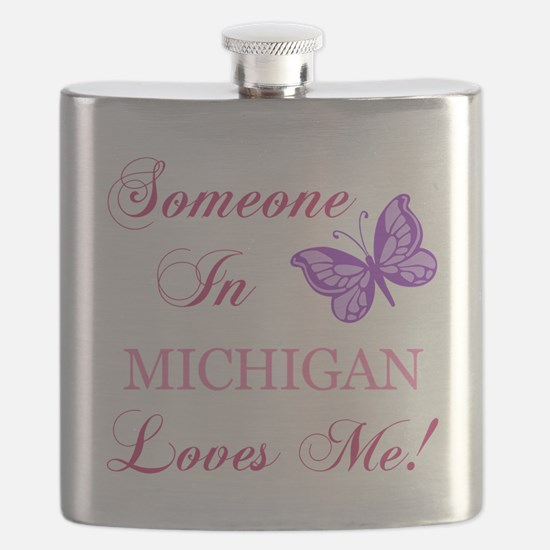 Michigan State (Butterfly) Flask
