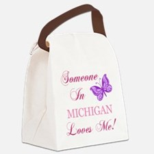 Michigan State (Butterfly) Canvas Lunch Bag