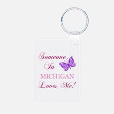 Michigan State (Butterfly) Keychains