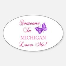 Michigan State (Butterfly) Sticker (Oval)
