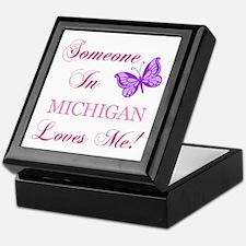 Michigan State (Butterfly) Keepsake Box