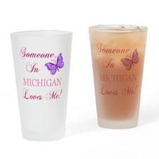Michigan State (Butterfly) Drinking Glass