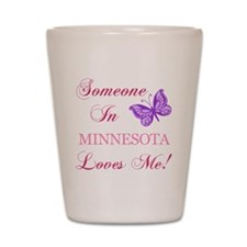 Minnesota State (Butterfly) Shot Glass
