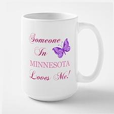 Minnesota State (Butterfly) Large Mug