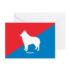 Schipperke Diagonal Greeting Cards (Pk of 10)