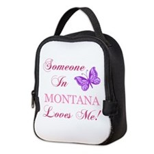 Montana State (Butterfly) Neoprene Lunch Bag