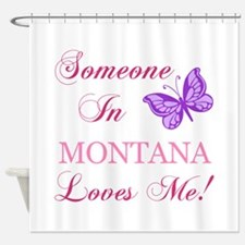 Montana State (Butterfly) Shower Curtain