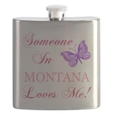 Montana State (Butterfly) Flask