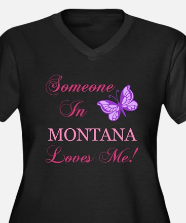 Montana State (Butterfly) Women's Plus Size V-Neck