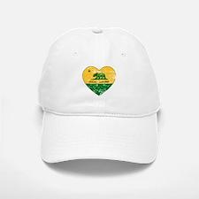 Oakland California green and yellow heart Baseball