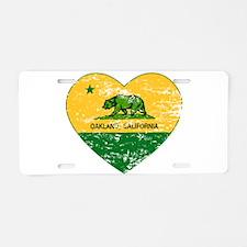 Oakland California green and yellow heart Aluminum