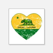Oakland California green and yellow heart Sticker