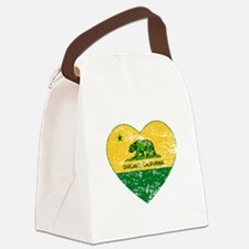 Oakland California green and yellow heart Canvas L