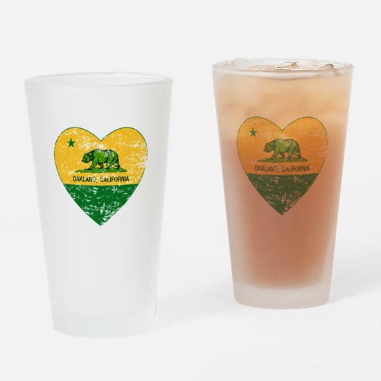 Oakland California green and yellow heart Drinking