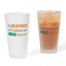 Beatings Will Continue - Drinking Glass