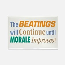 Beatings Will Continue - Rectangle Magnet