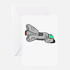 Spaceship Zero Greeting Cards