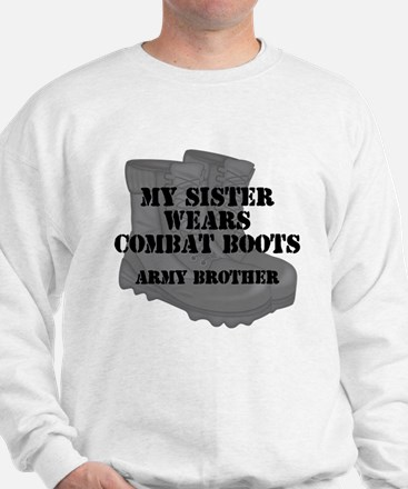 Army Brother Sister Combat Boots Sweatshirt