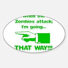 Im going left... Sticker (Oval)