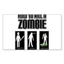 How to Kill a Zombie Decal