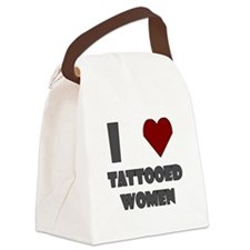 I Love Tattooed Women Canvas Lunch Bag