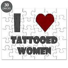 I Love Tattooed Women Puzzle