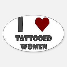 I Love Tattooed Women Decal