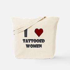 I Love Tattooed Women Tote Bag