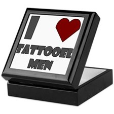 I Love Tattooed Men Keepsake Box