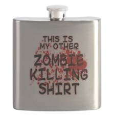 This is my other Zombie Killing Shirt Flask