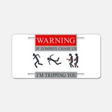 Zombies 01.png Aluminum License Plate