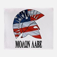 Movon Labe Flag Side Helm Throw Blanket