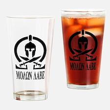Movon Labe Black Helm Drinking Glass