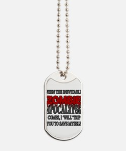 I Will Trip You Dog Tags