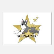 Schnauzer Stars Postcards (Package of 8)