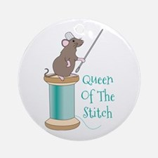 Queen of the Stitch Ornament (Round)