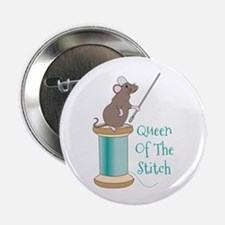 "Queen of the Stitch 2.25"" Button"