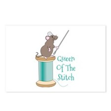 Queen of the Stitch Postcards (Package of 8)