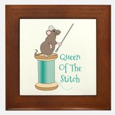 Queen of the Stitch Framed Tile